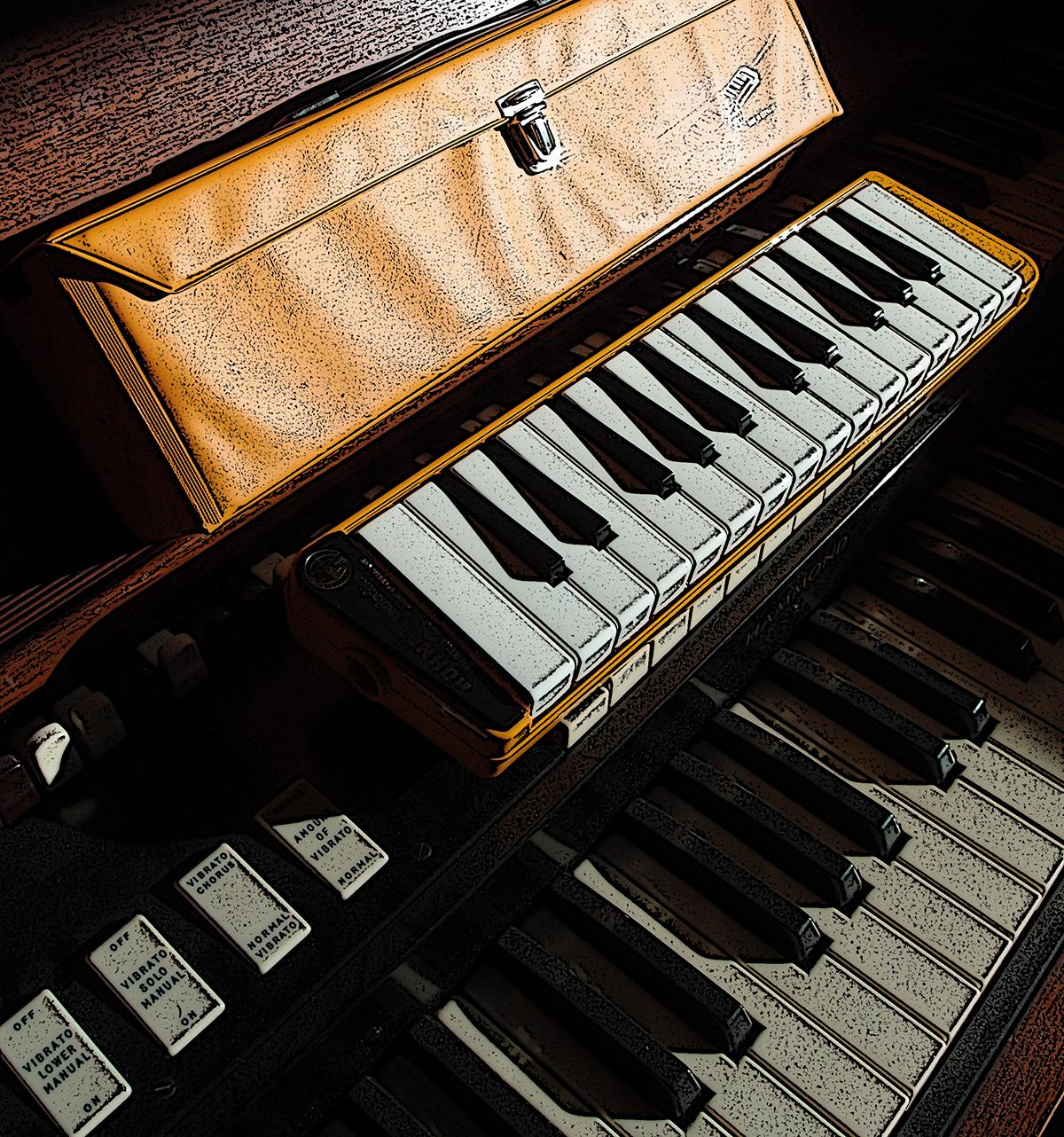 Yellow Melodica and Hammond Organ